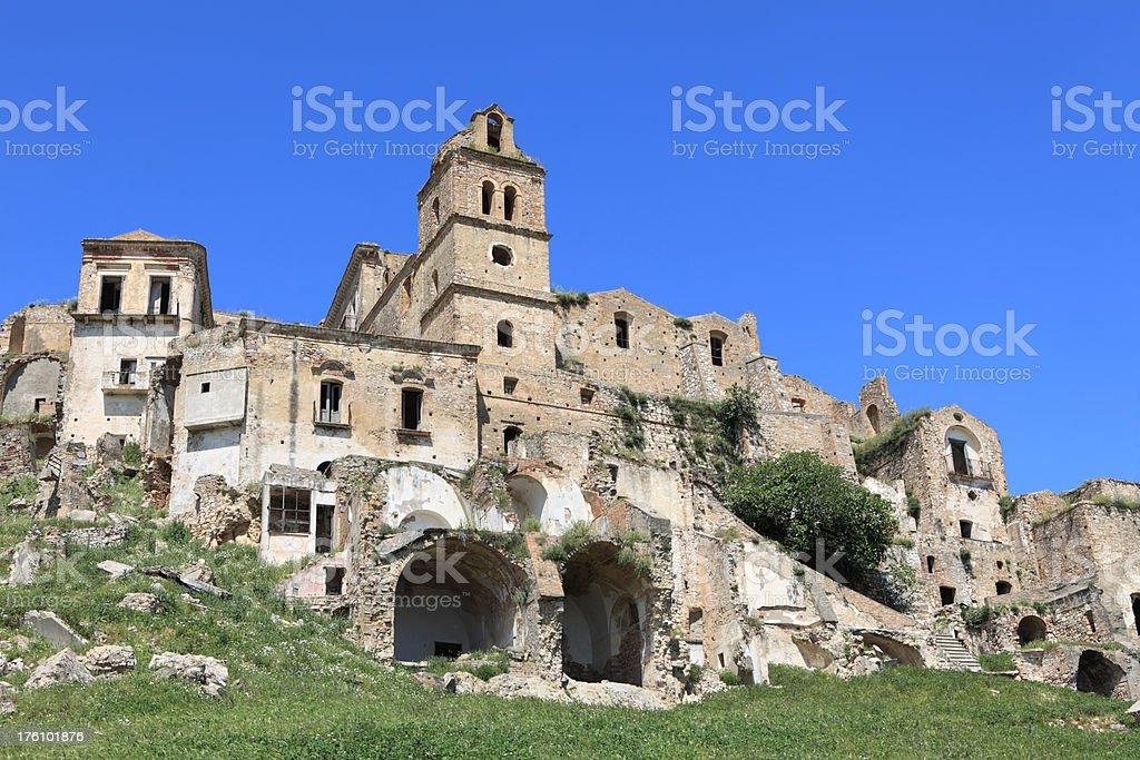 Craco - abandoned village in Basilicata stock photo