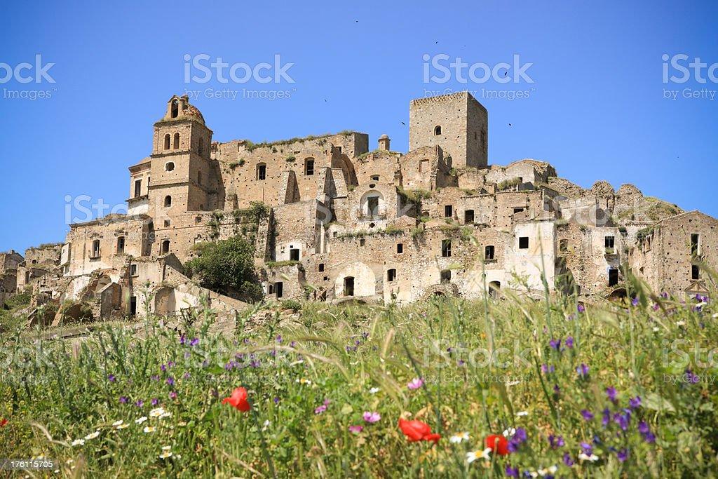 Craco - abandoned village in Basilicata royalty-free stock photo