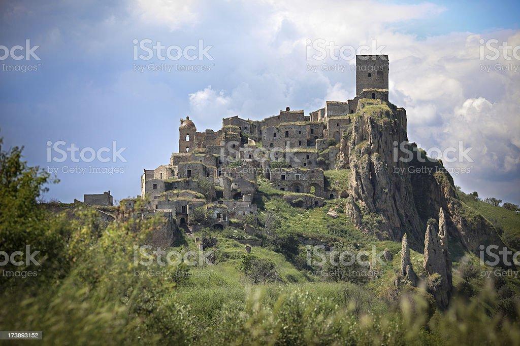 Craco , uninhabited village in Basilicata - Province of Matera, Italy royalty-free stock photo
