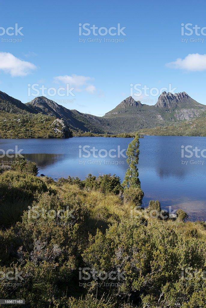 Cradle Mountain and Dove Lake stock photo