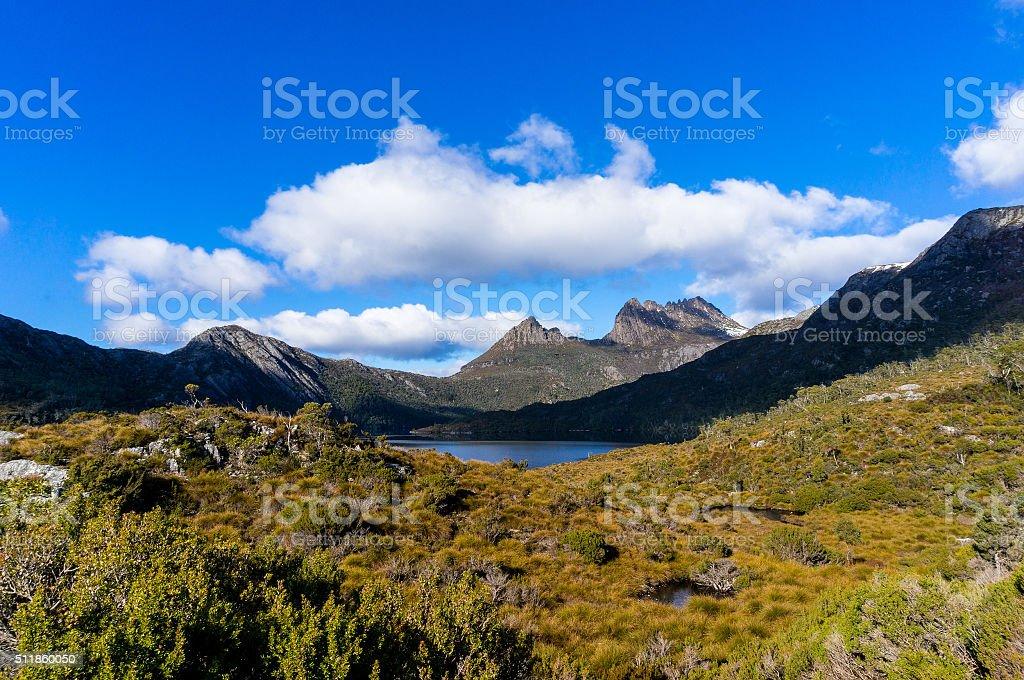 Cradle Mountain and Dove Lake Tasmania, Australia stock photo