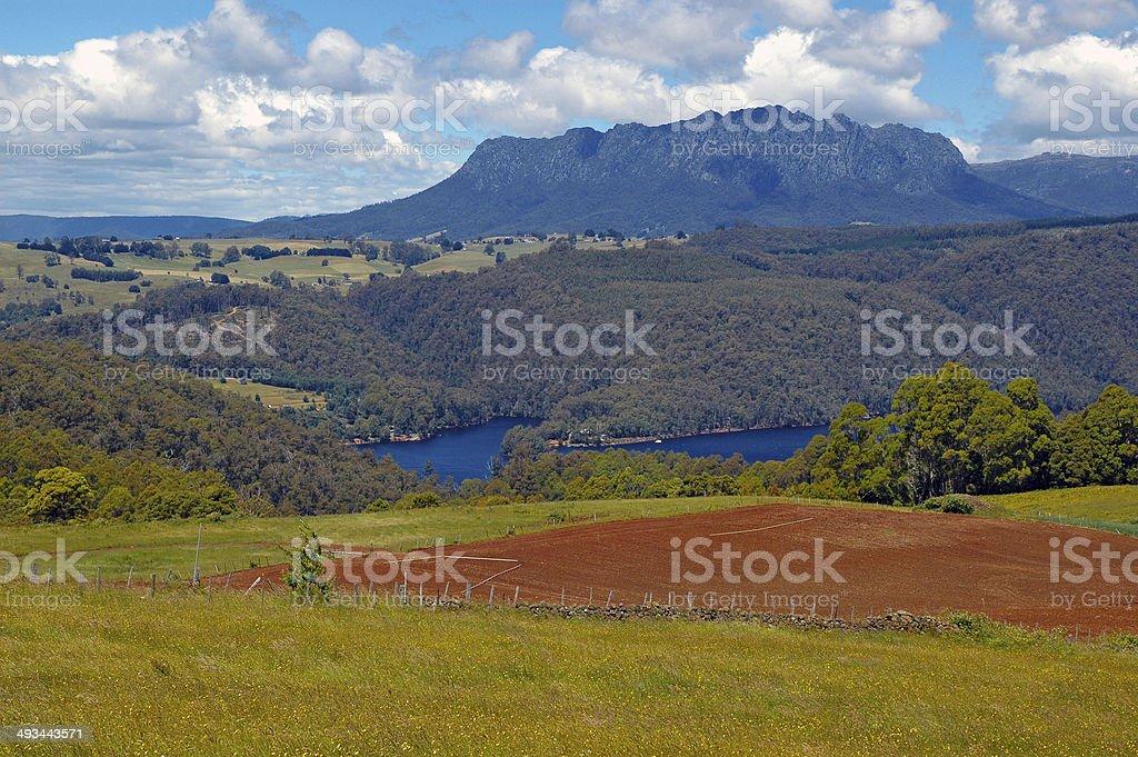 Cradle Mountain National Park, Tasmania, Australia stock photo