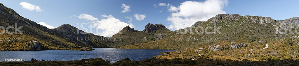 Cradle mountain panorama royalty-free stock photo