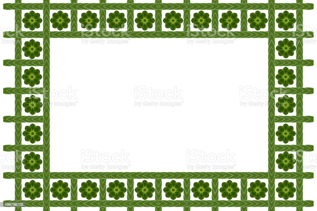 Craete from leaf and frame stock photo