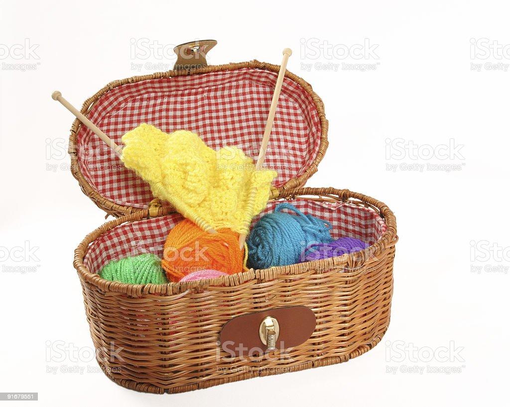 Craft Basket royalty-free stock photo