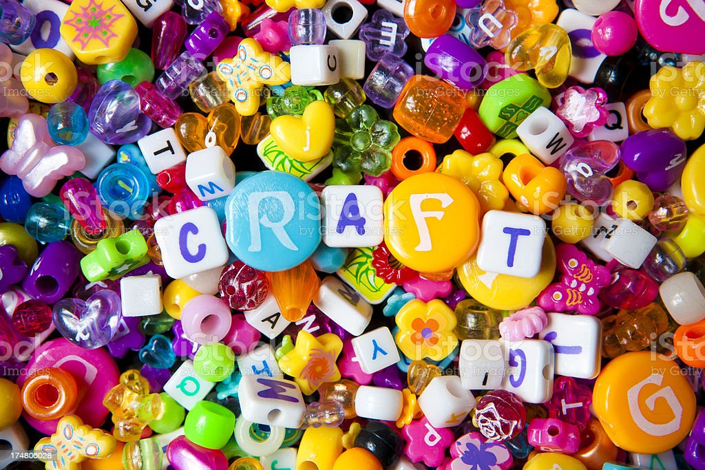 Craft beads royalty-free stock photo
