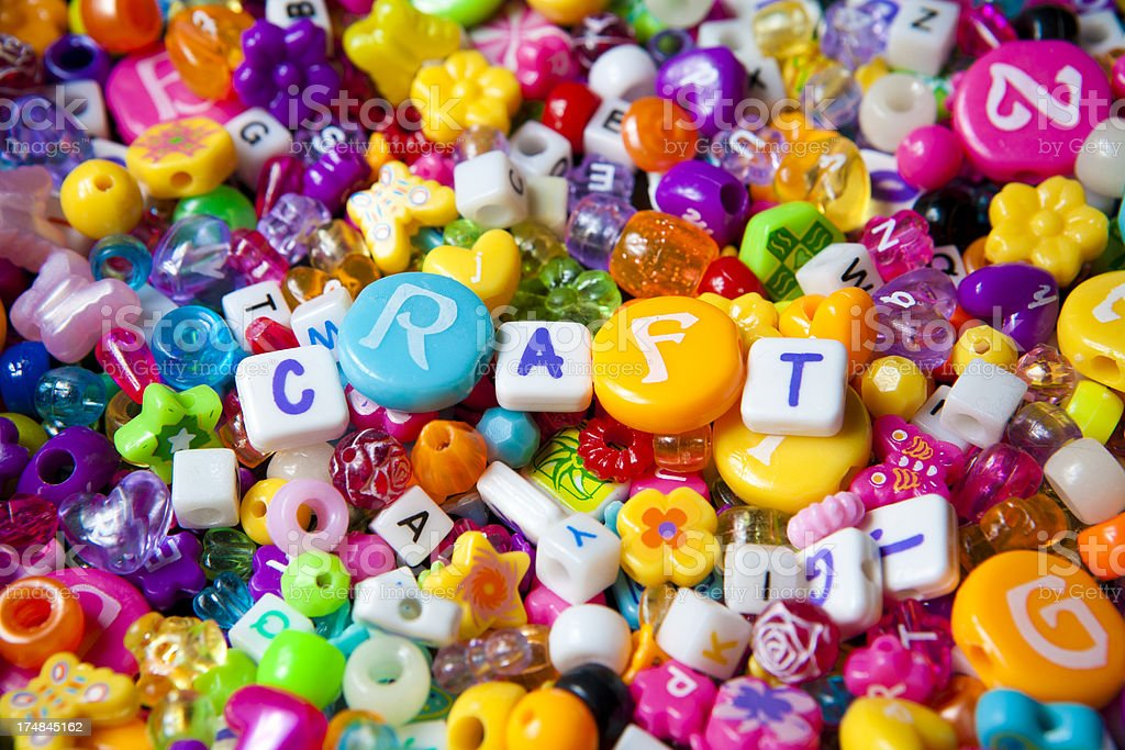 Craft beads royalty-free stock photo