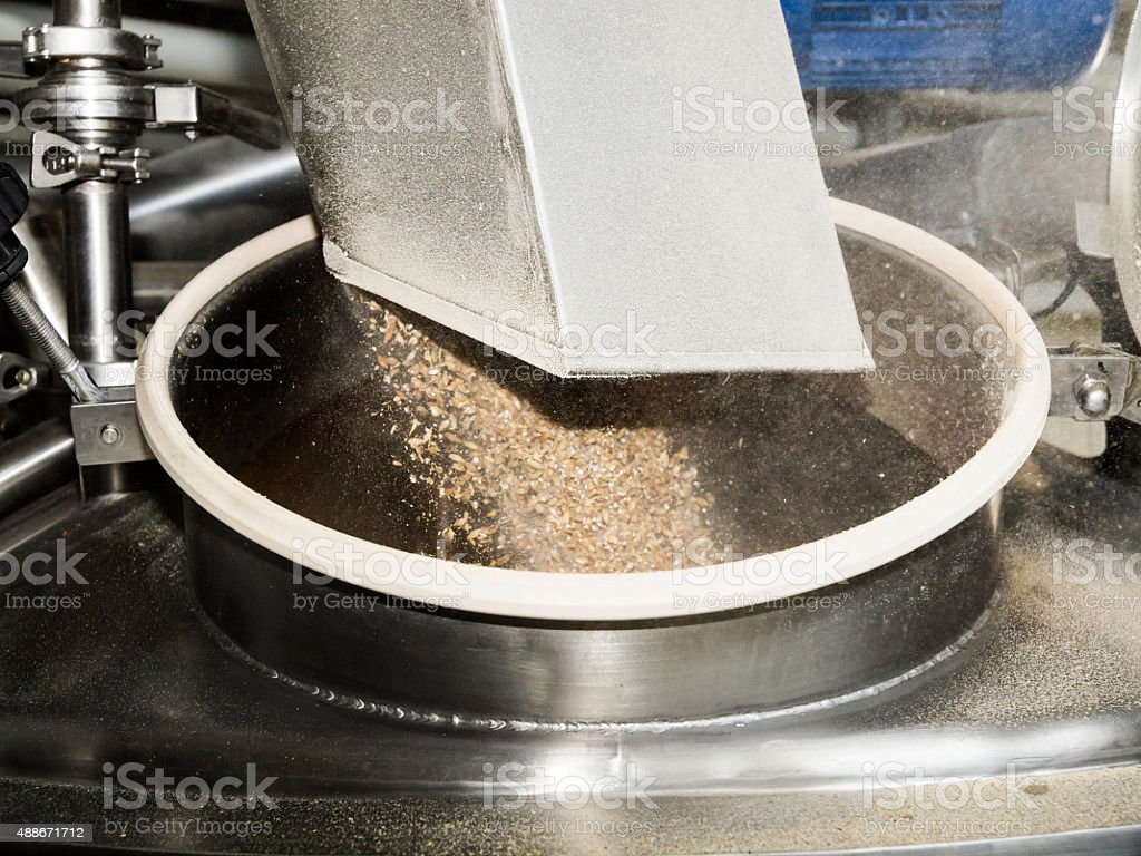 Craft beer production process stock photo