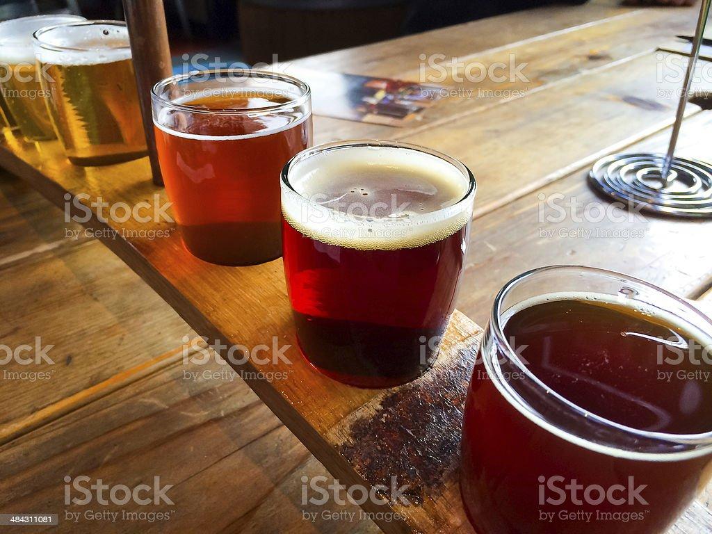 Craft Beer Sampler stock photo