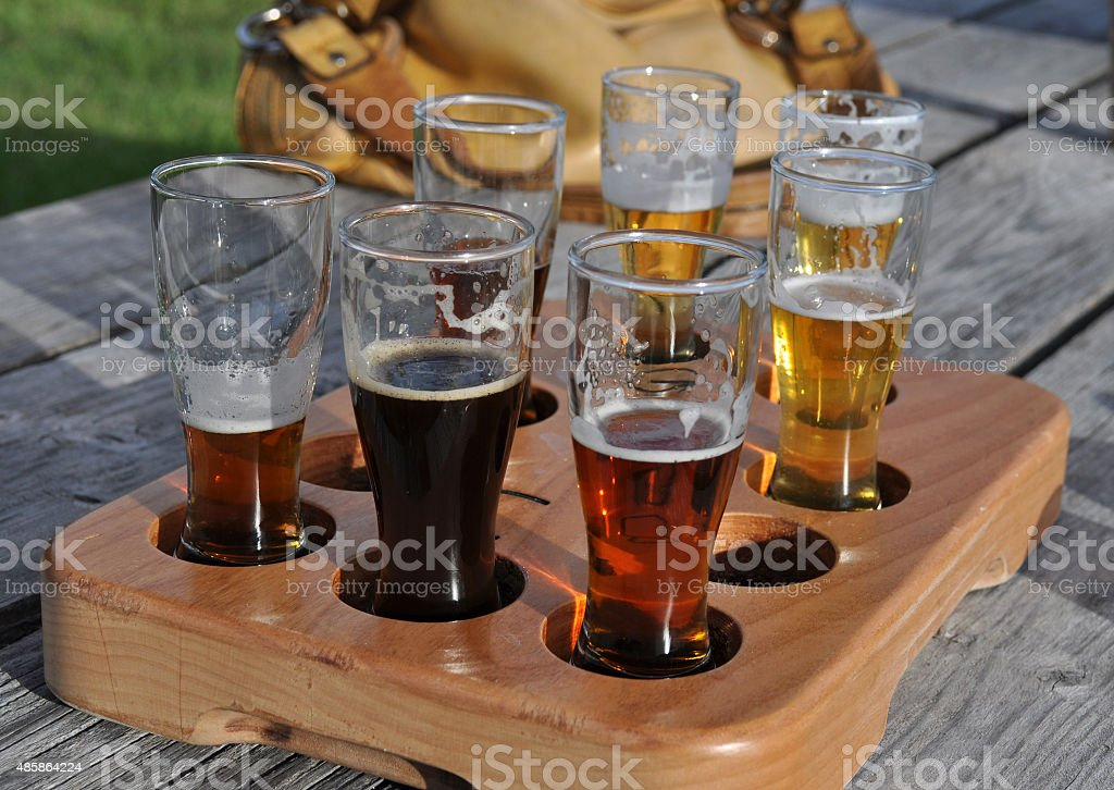 Craft Beer Tasters stock photo