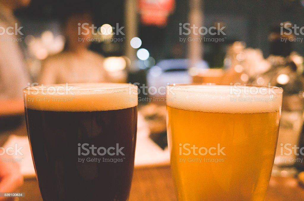 Craft Beer Tasting stock photo