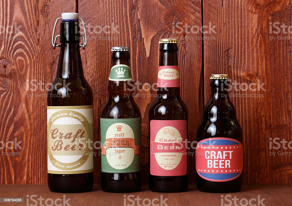 Craft Beers stock photo