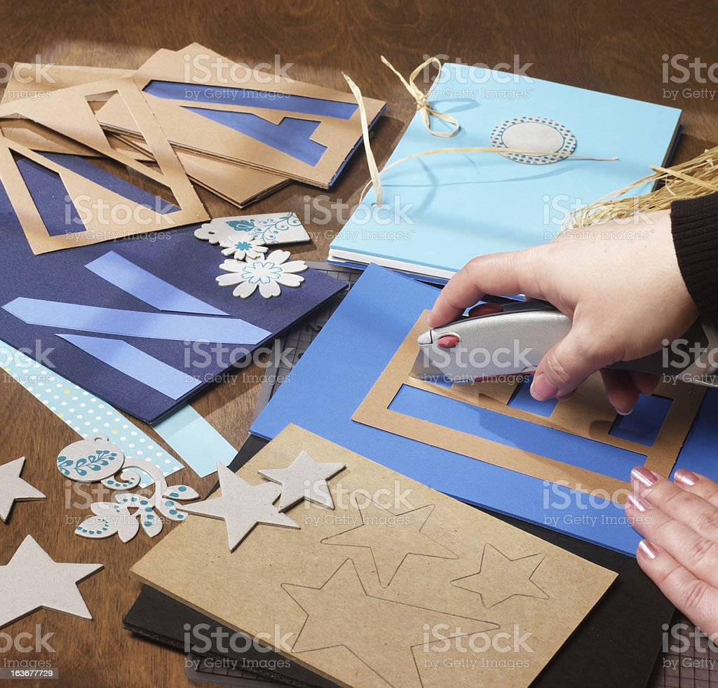 Craft Cutting royalty-free stock photo