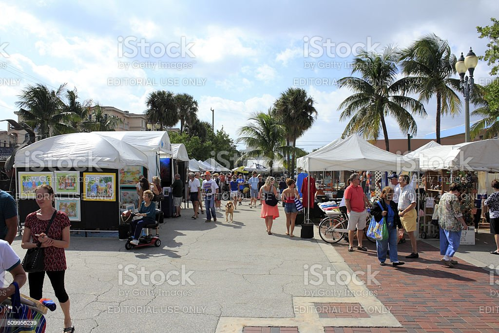 Craft Festival, Lauderdale by the Sea, Florida stock photo
