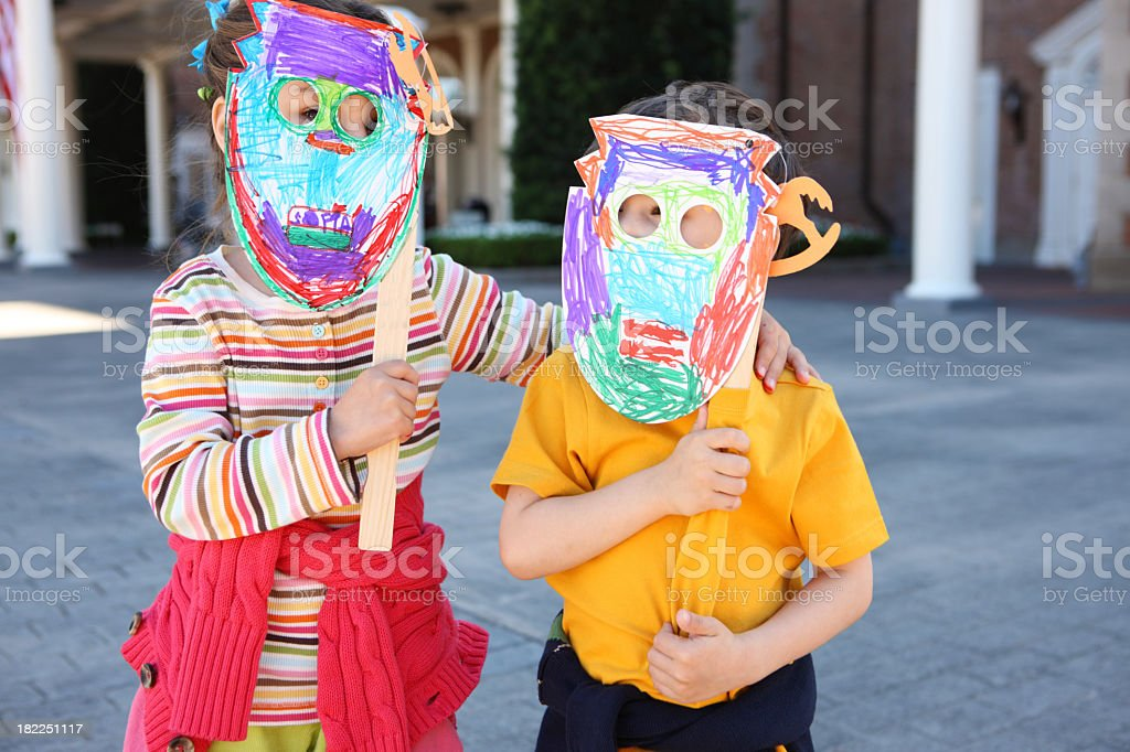 Craft lesson for preschoolers royalty-free stock photo