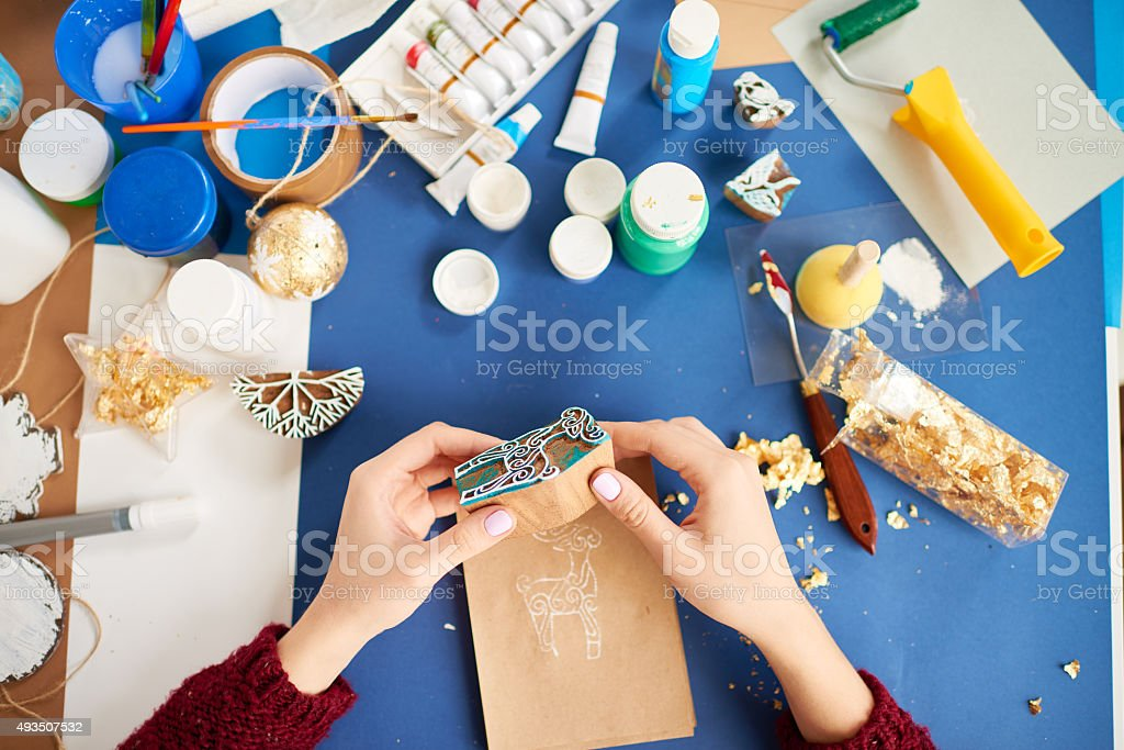 Craft lover stock photo