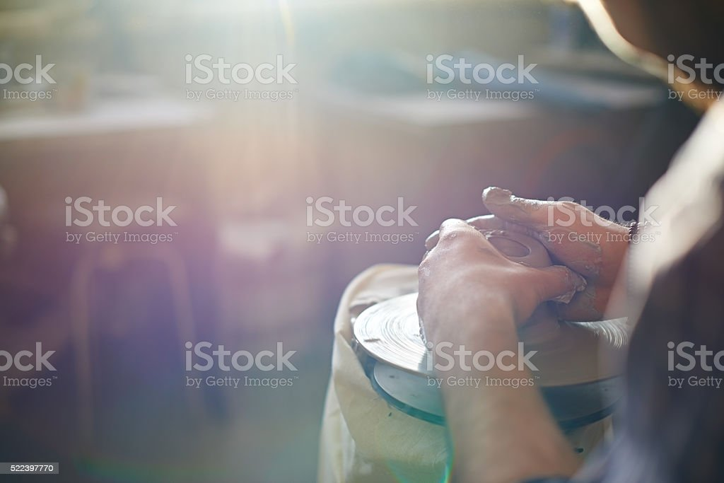 Craft of potter stock photo
