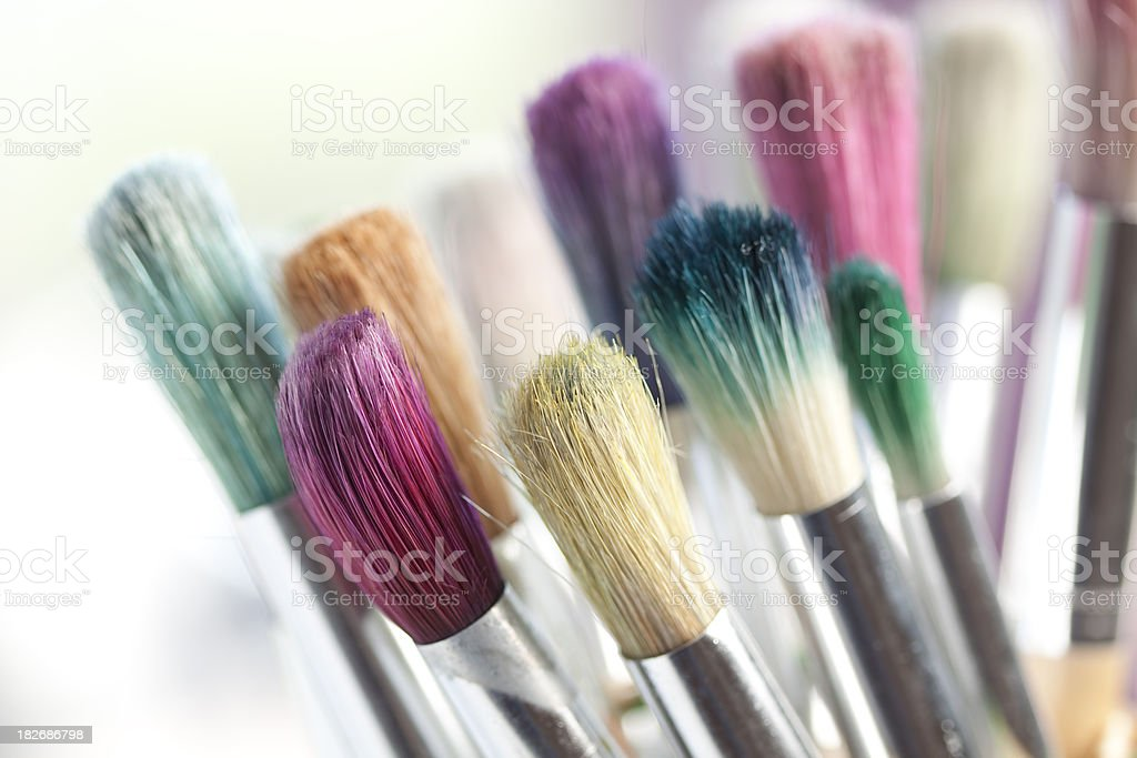 Craft paint brush royalty-free stock photo
