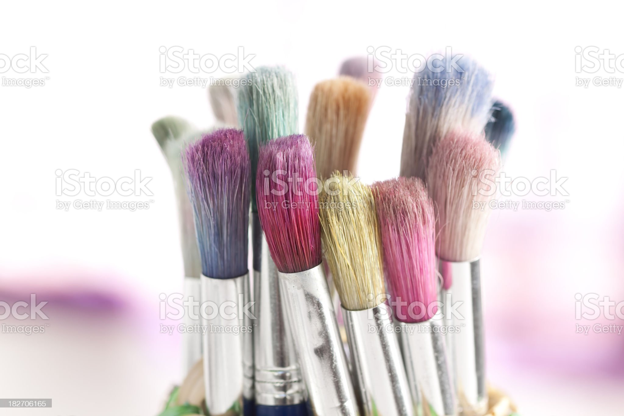 craft paint brushes royalty-free stock photo