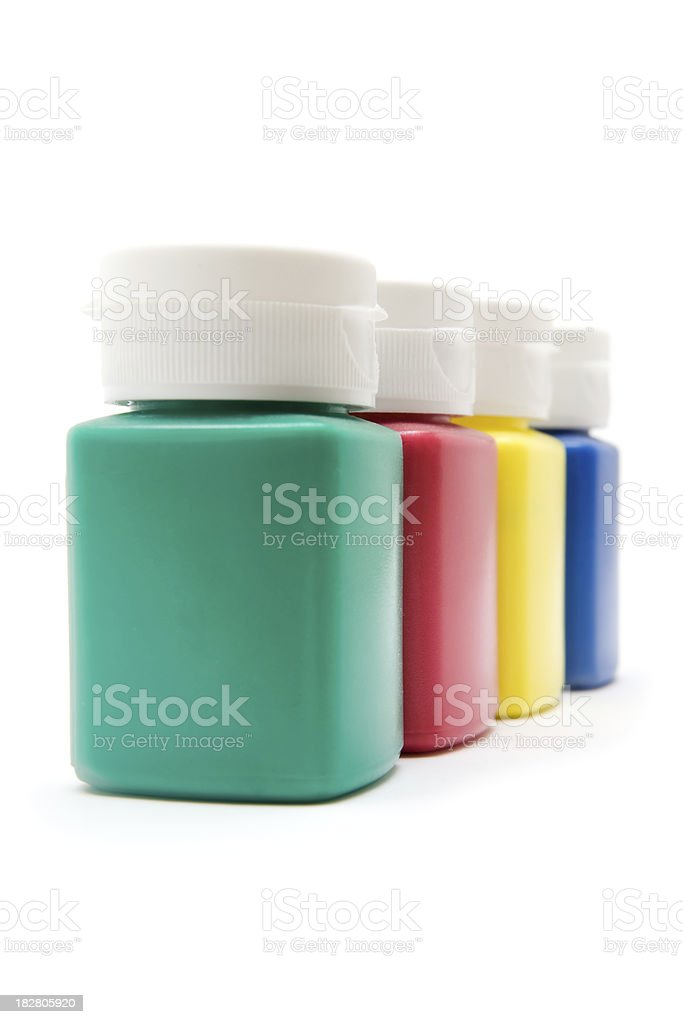 Craft Paints royalty-free stock photo