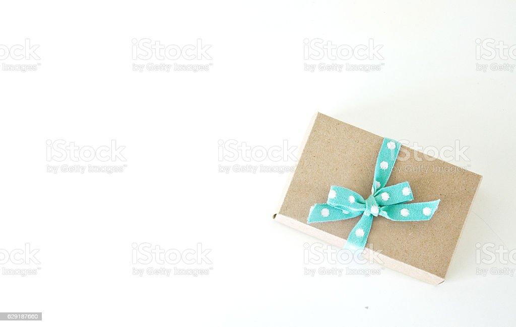 craft present gift box stock photo