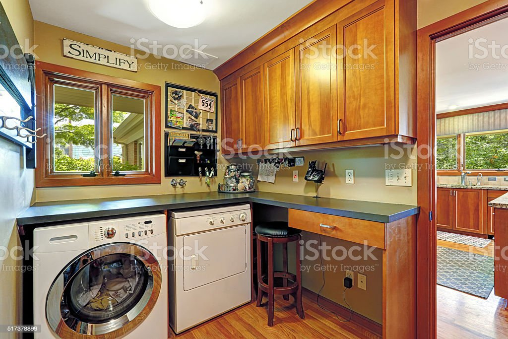 Craft room with laundry area stock photo