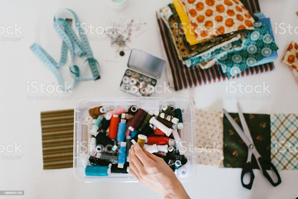 Craft supplies stock photo