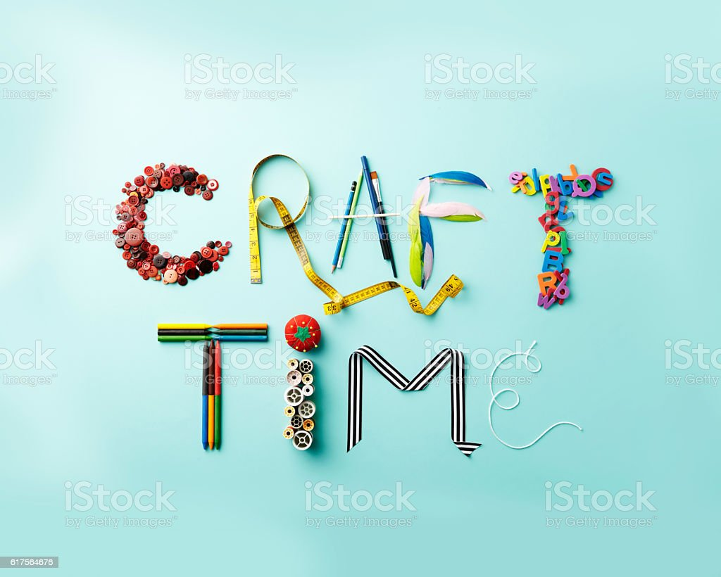 Craft Time Letters stock photo