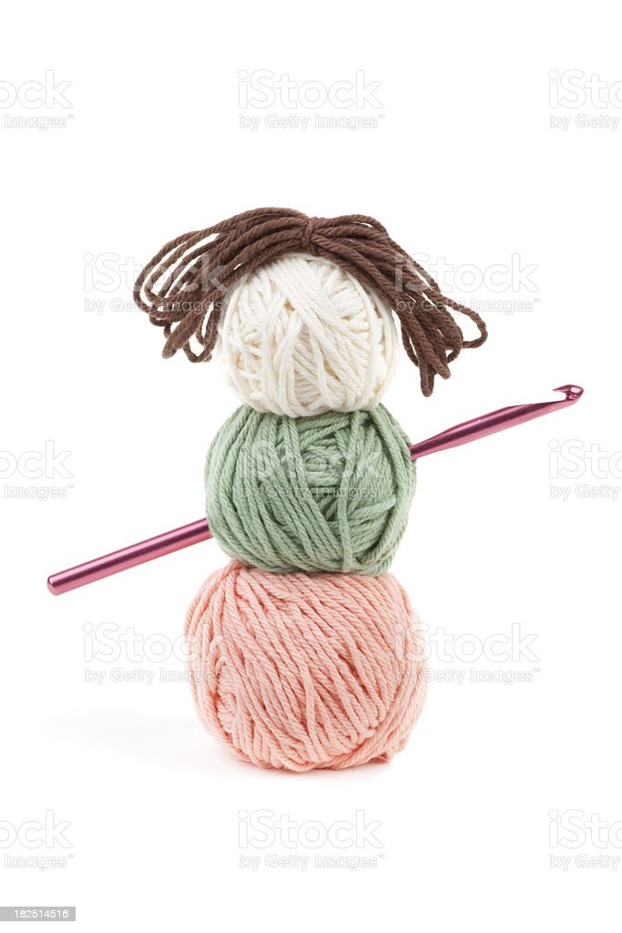 Craft Yarn Doll royalty-free stock photo