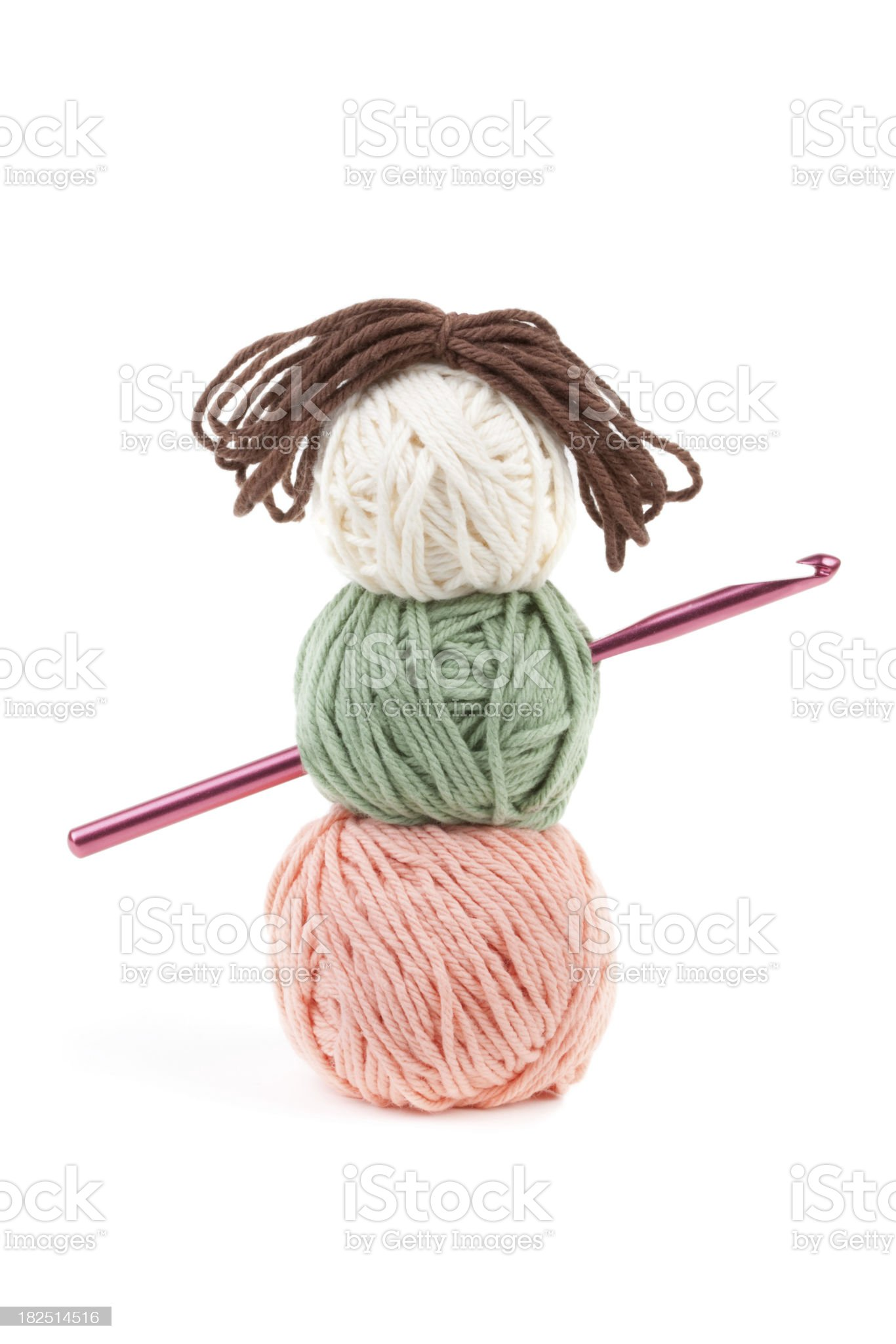 Craft Yarn Doll royalty-free stock photo