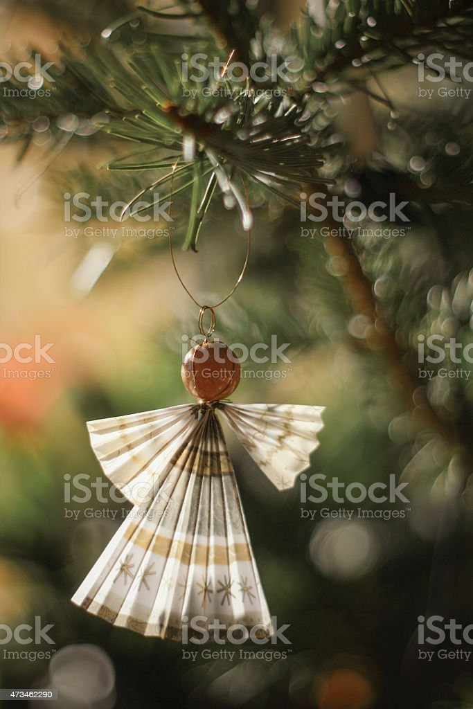 Crafted angel stock photo