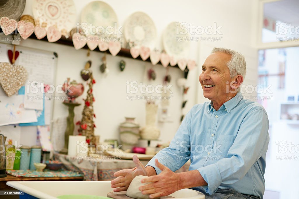 Craftiness and happiness stock photo