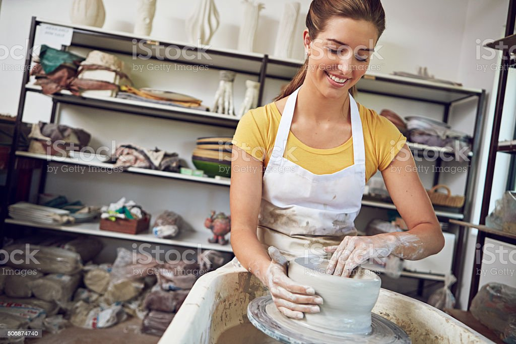 Craftiness is happiness stock photo