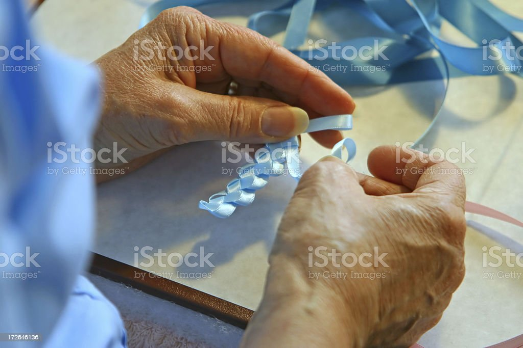 Crafting - Hands of the Artist royalty-free stock photo