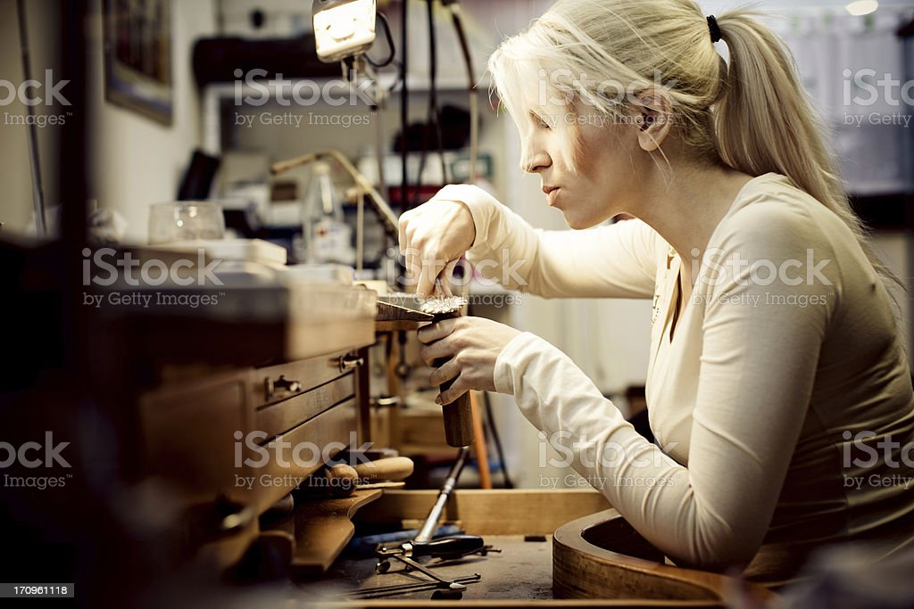 Crafting jewelry royalty-free stock photo
