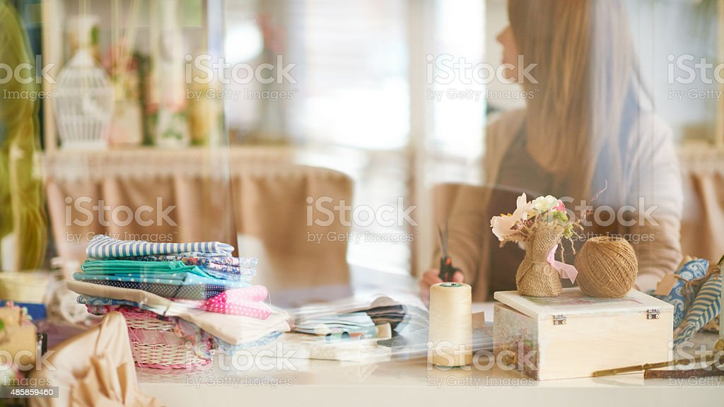 Crafting place stock photo