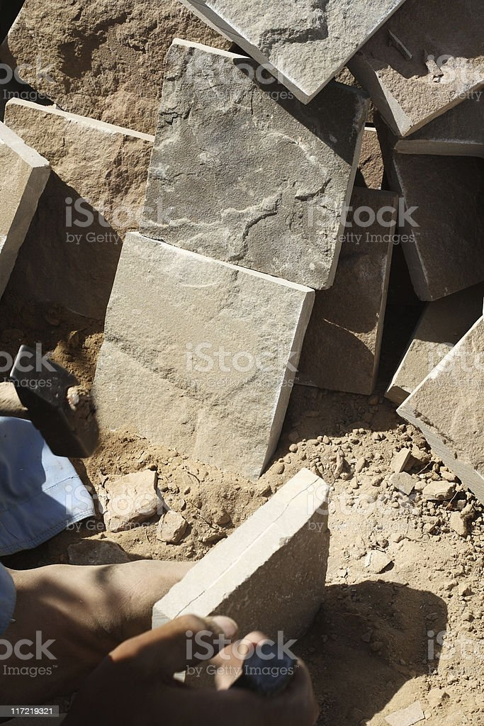 Crafting Stone Tiles royalty-free stock photo