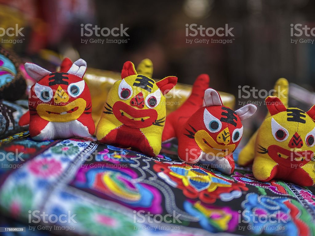 Crafts on a street marked in Beijing, China royalty-free stock photo