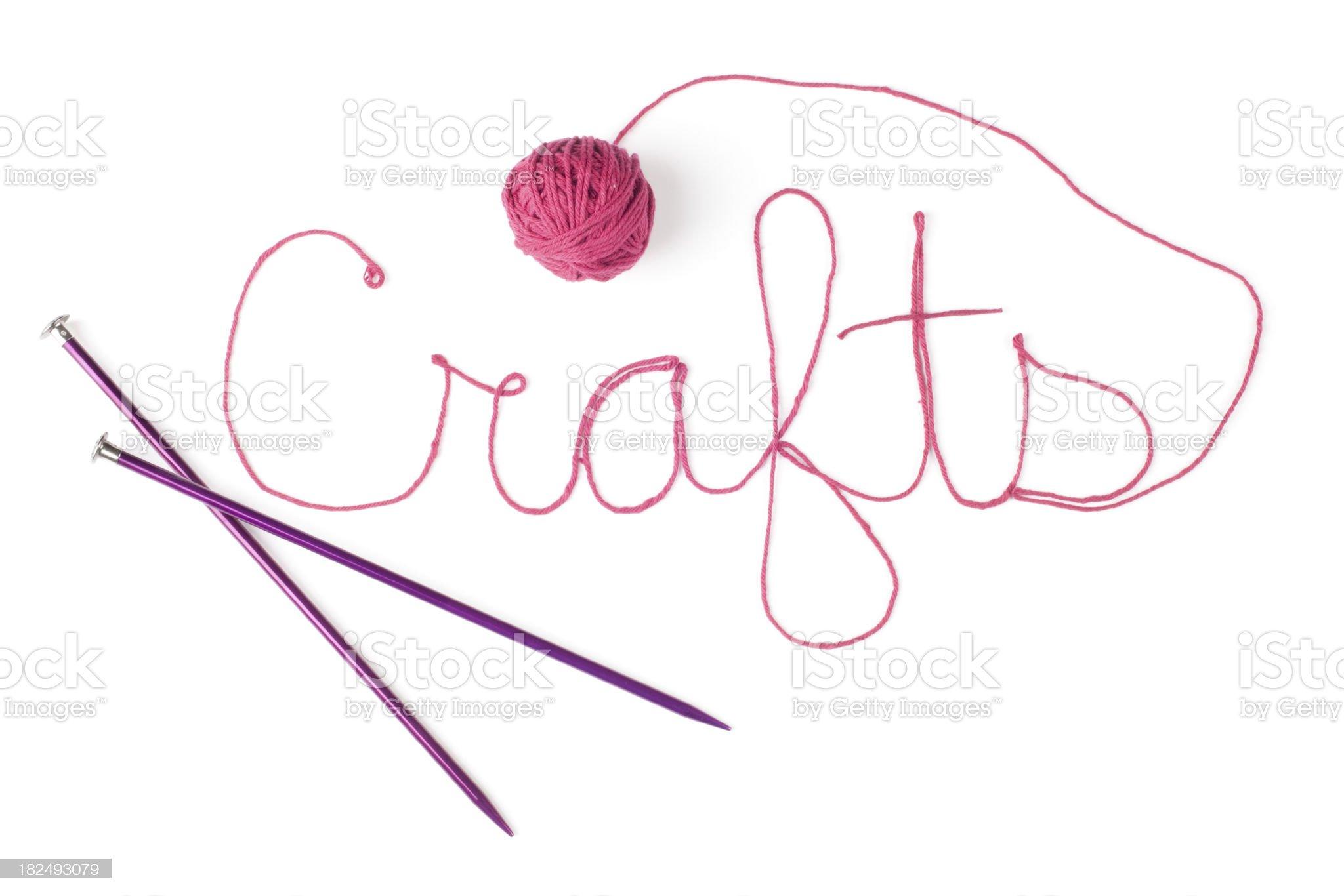 Crafts Yarn Word royalty-free stock photo