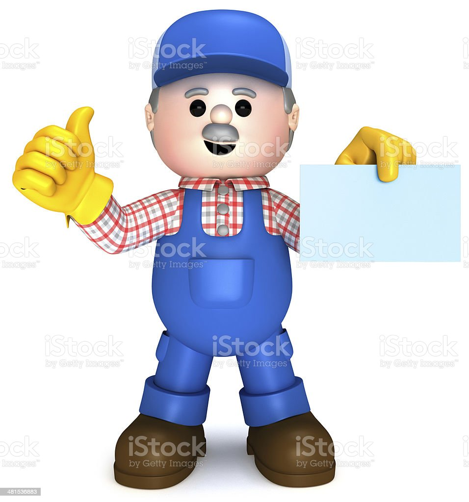 Craftsman mascot royalty-free stock photo
