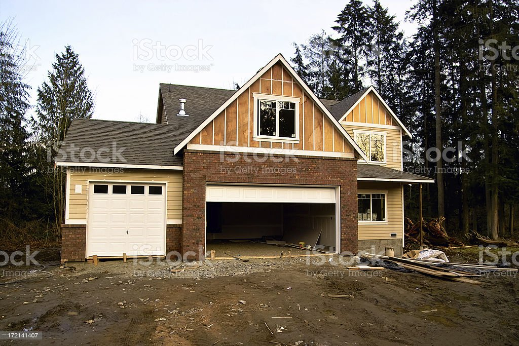 Craftsman Style New Construction royalty-free stock photo