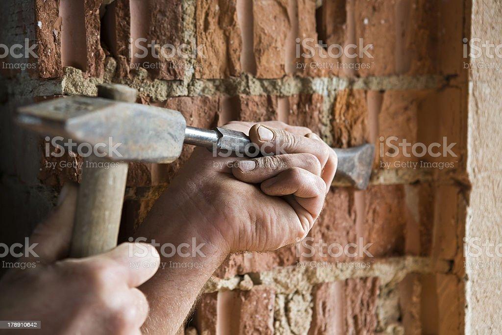 Craftsmen at work royalty-free stock photo