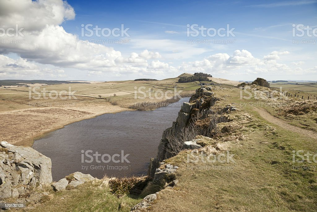 Crag Lough, Hadrian's Wall Country royalty-free stock photo
