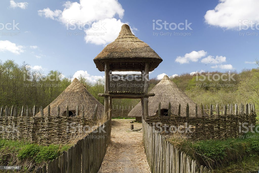 Craggaunowen settlement royalty-free stock photo