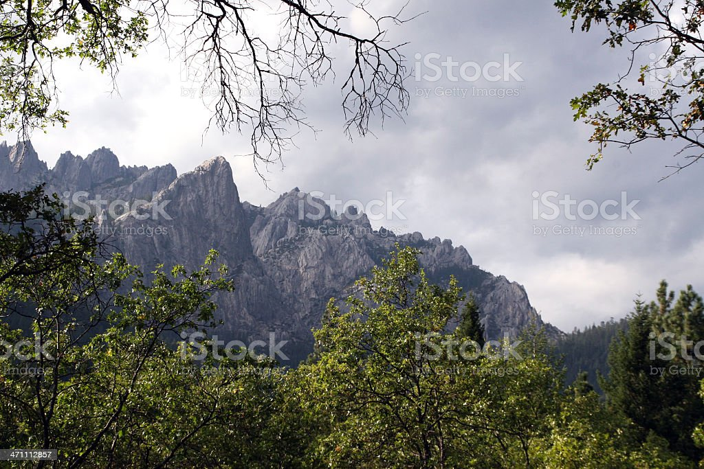 Crags and Trees royalty-free stock photo