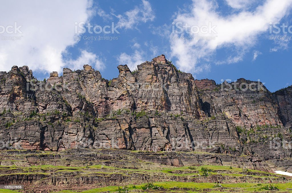Crags of Glacier Park royalty-free stock photo