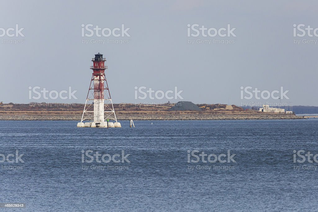 Craighill Channel Lower Range Rear Light, Lighthouse stock photo