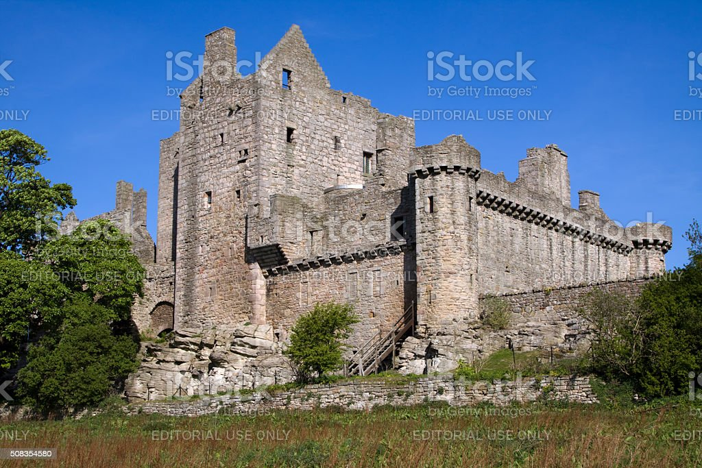 Craigmillar Castle, Edinburgh, Scotland stock photo