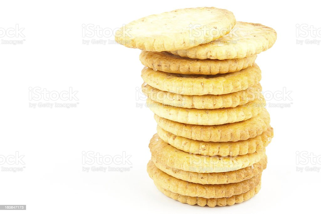 Crakers stack royalty-free stock photo