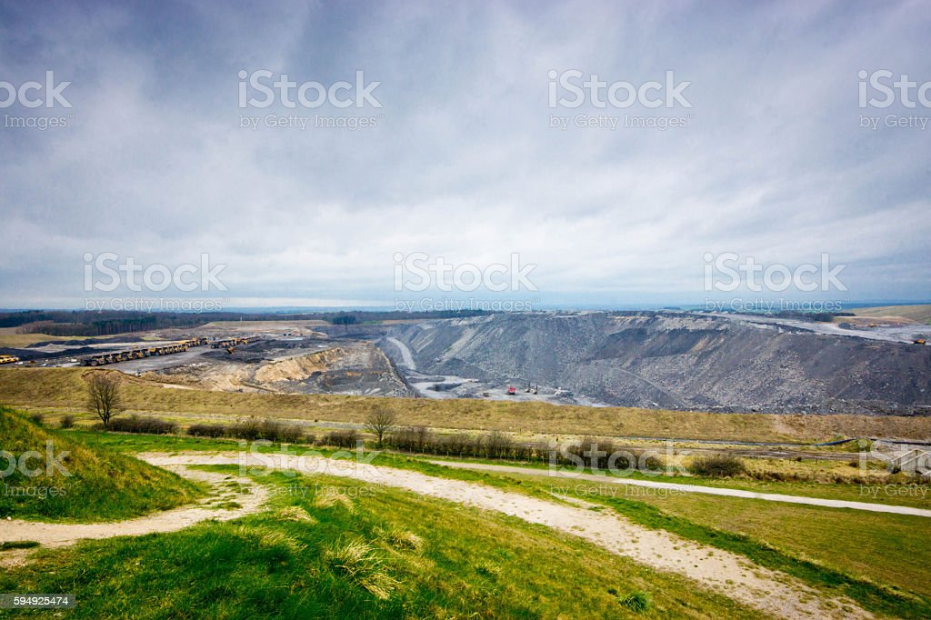 Cramlington quarry stock photo